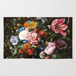 "Jan Davidsz. de Heem ""Still life with Flowers"" Rug"