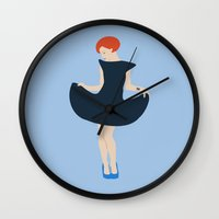 paramore Wall Clocks featuring Hayley W by IdaFreja