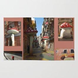 Street Of Giant Mushrooms Rug