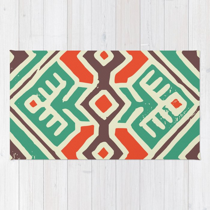 Ancient totem pattern Rug