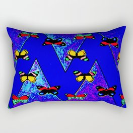 Bright Butterfly Pattern Print Rectangular Pillow