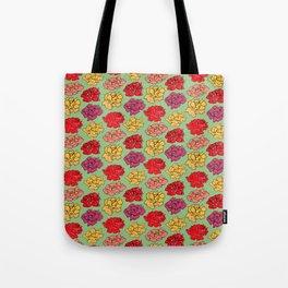 Light Green floral pattern Tote Bag