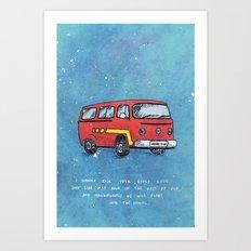Van Morrison (Blue) Art Print