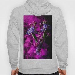 Purple Floral Smoke Bouquet  Hoody