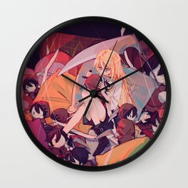 Rachel And Zack Chibi - Angels Of Death Wall Clock