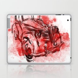 old car and red smoke Laptop & iPad Skin