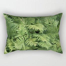 Fern Leaves Photography | Fresh Green Botanical Pattern | Art Print |Home Decor Rectangular Pillow