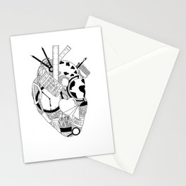 Heart of a Teacher Stationery Cards