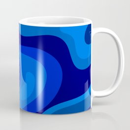 Multicolor Blue Liquid Abstract Design Coffee Mug