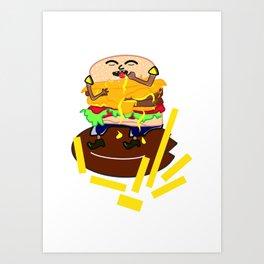 Cheese burger Art Print