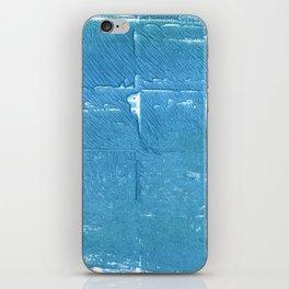 Carolina blue abstract watercolor iPhone Skin
