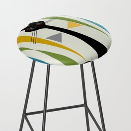 Mid-Century Modern Art Cat 2 Bar Stool