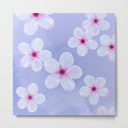 Cherry Blossoms - Painting Metal Print