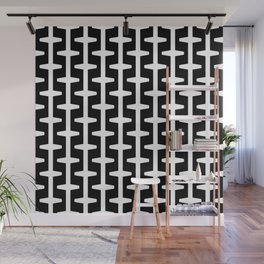 Geometric Pattern 207 (black white) Wall Mural
