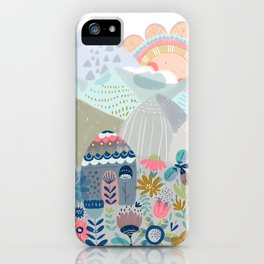 Hello mountains iPhone Case