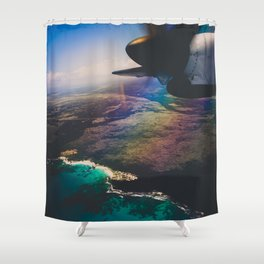 the air up there Shower Curtain