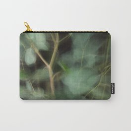 Abstract Eucalyptus Leaves on Black Background-Fleur Blur Series Carry-All Pouch