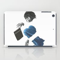 death note iPad Cases featuring Death Note L by Papan Seniman