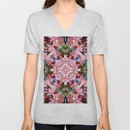 Kaleidoscope Flowers Unisex V-Neck