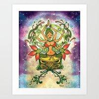 goddess Art Prints featuring Goddess by Divya Suvarna