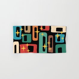 Retro Mid Century Modern Abstract Pattern 223 Hand & Bath Towel