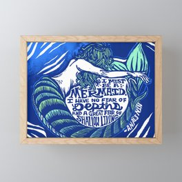 Anais Nin Mermaid Depths Framed Mini Art Print