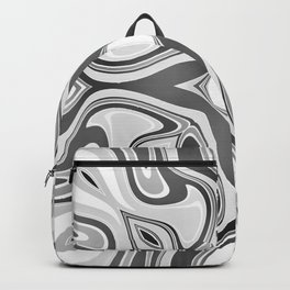 RAVEN black and white graphic design native spirit motif Backpack