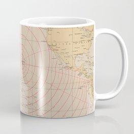Vintage Hawaii Seismic Tsunami Wave Map (1947) Coffee Mug