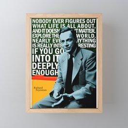 Richard Feynman Quote 1 Framed Mini Art Print