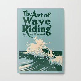 The Art of Wave Riding 1931, First Surfing Book Artwork, for Wall Art, Prints, Posters, Tshirts, Men, Women, Kids Metal Print