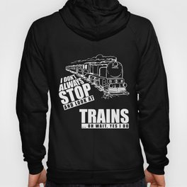 Train T-Shirt I Dont Always Stop Look At Trains Gift Tee Hoody
