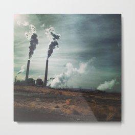 exhaust factory Metal Print