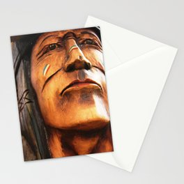Wooden Native American Indian Stationery Cards