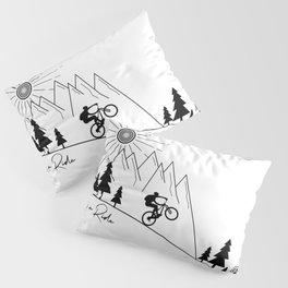 cycling mountain bike mountainbike cyclist bicycle MTB gift Pillow Sham