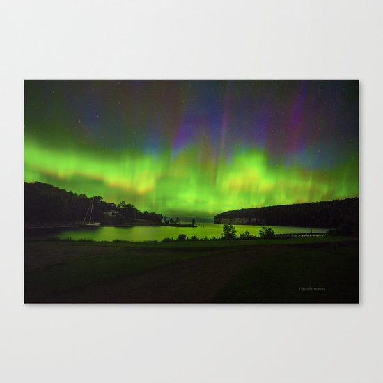 Northern Lights at Historic Fayette Canvas Print