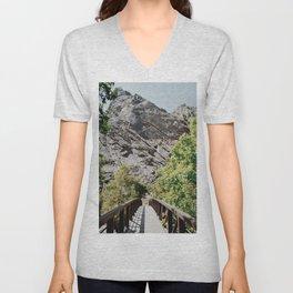 Bridge to the Mountains Unisex V-Neck