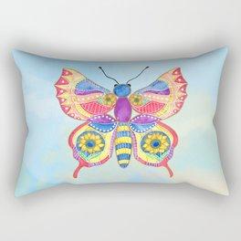 Butterfly V on a Summer Day Rectangular Pillow
