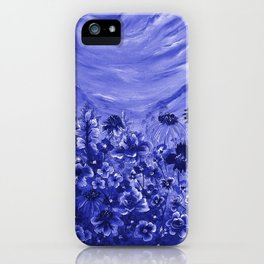 Blue Meadow iPhone Case
