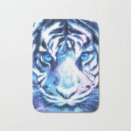White Tiger | Snow Tiger | Tiger Face | Space Tiger Bath Mat