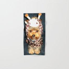 Happy Yorkie in Giraffe Costume | Dogs Hand & Bath Towel