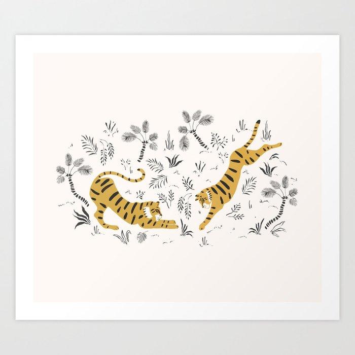 Tiger Dive Art Print
