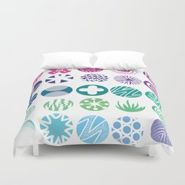 Colored Circles Duvet Cover