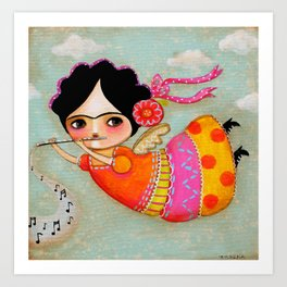 Frida's song Art Print