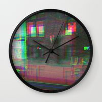 urban Wall Clocks featuring Urban by Jane Lacey Smith