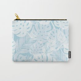 Tropical Shadows - Light Blue / White Carry-All Pouch