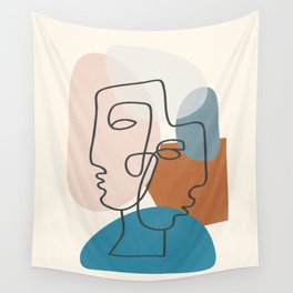 Abstract Profiles 01 Wall Tapestry