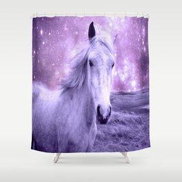 Lavender Horse Celestial Dreams Shower Curtain