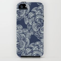 clouds - navy Tough Case iPhone (5, 5s)