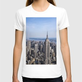 Aerial view of New York City T-shirt