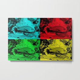 Pop Art Fish - Help fund education for orphan kids in Malawi, Africa.  #MoreThanAid Metal Print